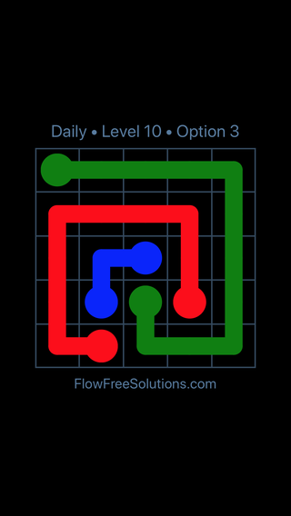 Solution and Answer to the Puzzle for Flow Date Thursday, July 28, 2016 Level 10