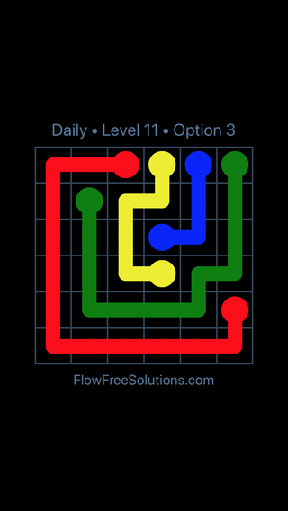 Solution and Answer to the Puzzle for Flow Date Thursday, July 28, 2016 Level 11
