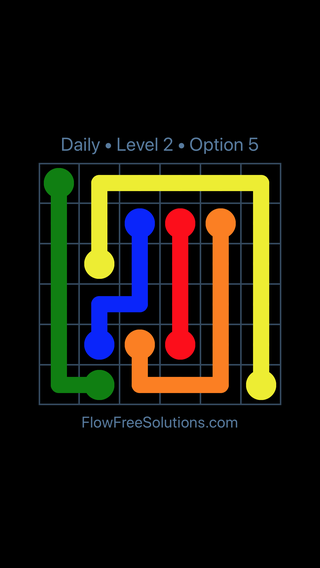 Solution and Answer to the Puzzle for Flow Date Thursday, May 5, 2016 Level 2