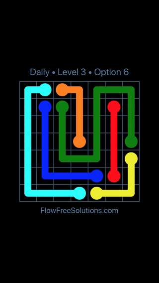 Solution and Answer to the Puzzle for Flow Date Thursday, May 5, 2016 Level 3