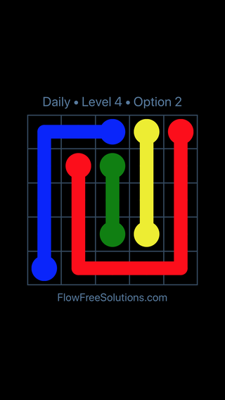 Solution and Answer to the Puzzle for Flow Date Thursday, July 28, 2016 Level 4