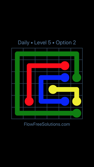 Solution and Answer to the Puzzle for Flow Date Thursday, May 5, 2016 Level 5