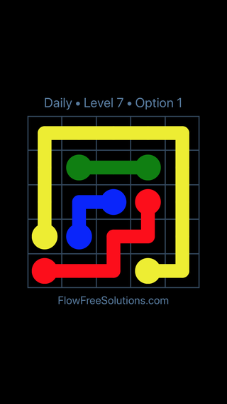 Solution and Answer to the Puzzle for Flow Date Thursday, July 28, 2016 Level 7