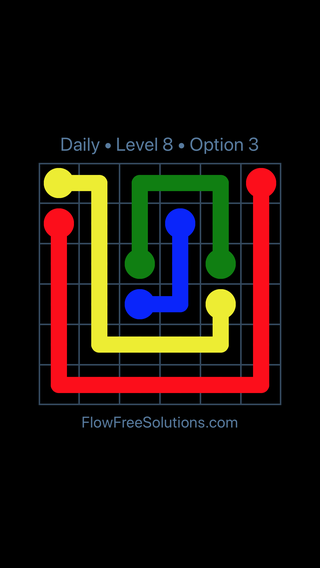 Solution and Answer to the Puzzle for Flow Date Thursday, July 28, 2016 Level 8