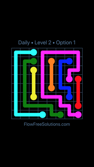 Solution and Answer to the Puzzle for Flow Date Friday, May 6, 2016 Level 2