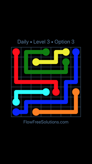 Solution and Answer to the Puzzle for Flow Date Friday, May 6, 2016 Level 3