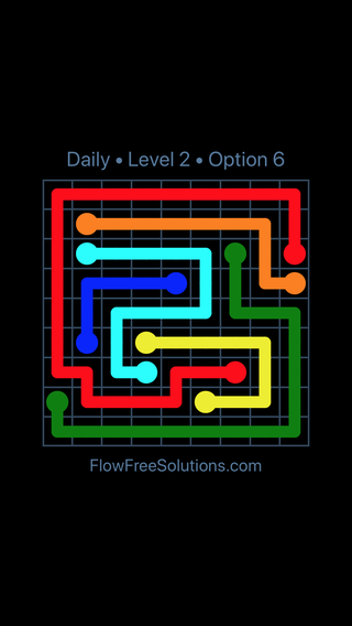 Solution and Answer to the Puzzle for Flow Date Saturday, July 30, 2016 Level 2