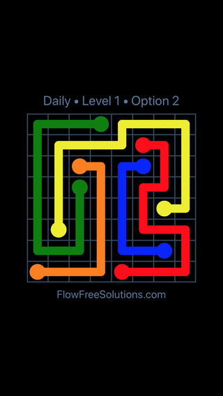 Solution and Answer to the Puzzle for Flow Date Sunday, July 31, 2016 Level 1