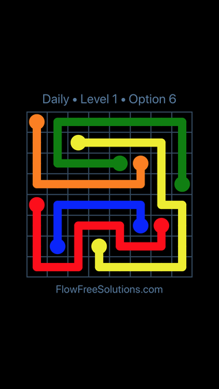Solution and Answer to the Puzzle for Flow Date Sunday, May 8, 2016 Level 1