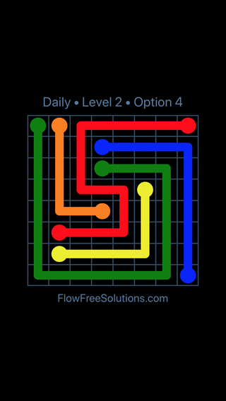 Solution and Answer to the Puzzle for Flow Date Sunday, May 8, 2016 Level 2