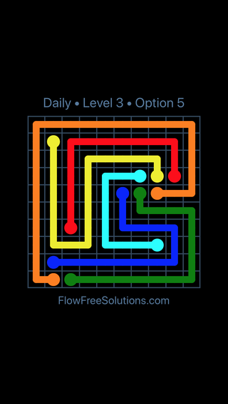 Solution and Answer to the Puzzle for Flow Date Sunday, July 31, 2016 Level 3