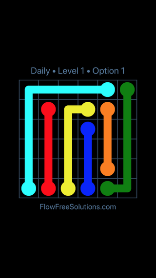 Solution and Answer to the Puzzle for Flow Date Monday, May 9, 2016 Level 1