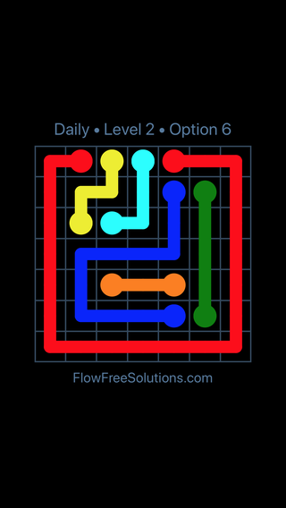 Solution and Answer to the Puzzle for Flow Date Monday, May 9, 2016 Level 2