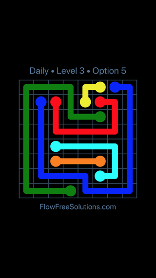 Solution and Answer to the Puzzle for Flow Date Monday, May 9, 2016 Level 3