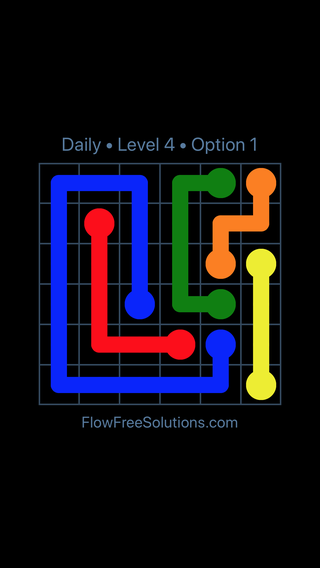 Solution and Answer to the Puzzle for Flow Date Monday, May 9, 2016 Level 4