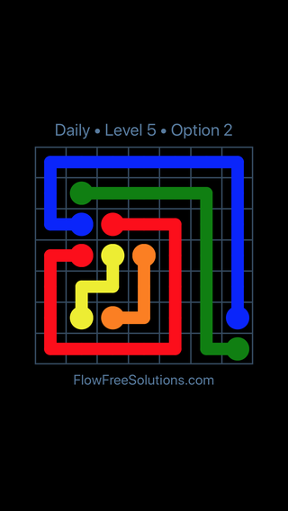 Solution and Answer to the Puzzle for Flow Date Monday, August 1, 2016 Level 5