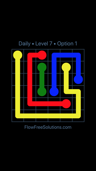 Solution and Answer to the Puzzle for Flow Date Monday, August 1, 2016 Level 7