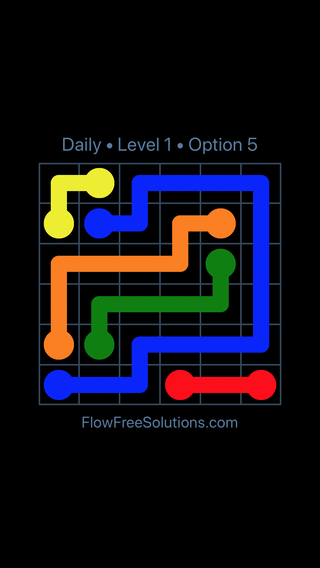 Solution and Answer to the Puzzle for Flow Date Tuesday, May 10, 2016 Level 1