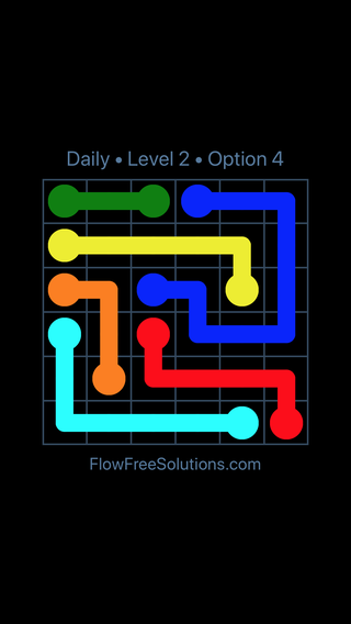 Solution and Answer to the Puzzle for Flow Date Tuesday, May 10, 2016 Level 2