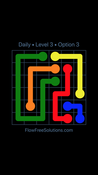 Solution and Answer to the Puzzle for Flow Date Tuesday, May 10, 2016 Level 3