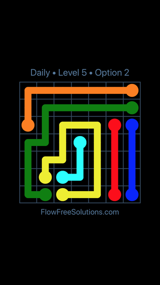 Solution and Answer to the Puzzle for Flow Date Tuesday, May 10, 2016 Level 5
