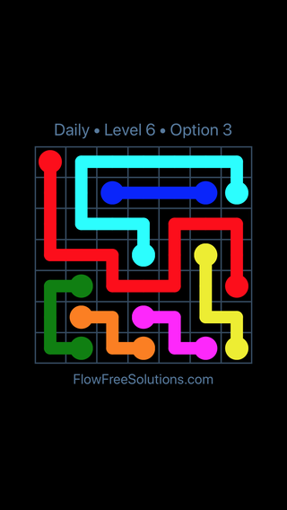 Solution and Answer to the Puzzle for Flow Date Tuesday, May 10, 2016 Level 6