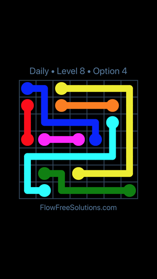 Solution and Answer to the Puzzle for Flow Date Tuesday, May 10, 2016 Level 8