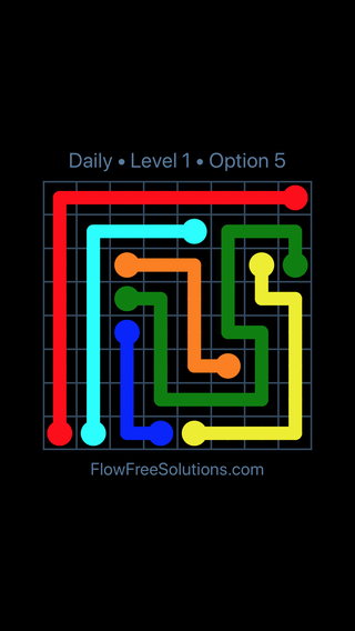 Solution and Answer to the Puzzle for Flow Date Wednesday, August 3, 2016 Level 1