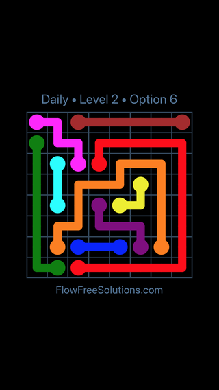 Solution and Answer to the Puzzle for Flow Date Wednesday, May 11, 2016 Level 2