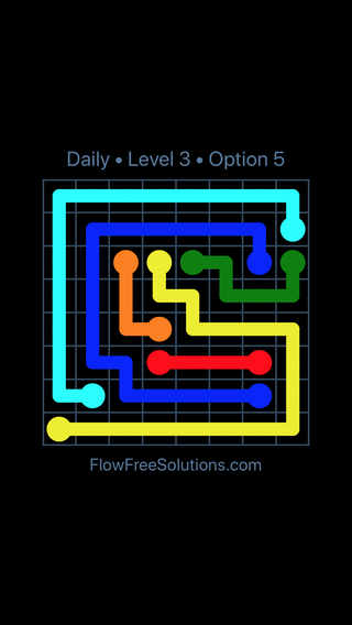 Solution and Answer to the Puzzle for Flow Date Wednesday, August 3, 2016 Level 3
