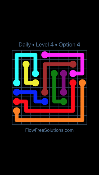 Solution and Answer to the Puzzle for Flow Date Wednesday, August 3, 2016 Level 4