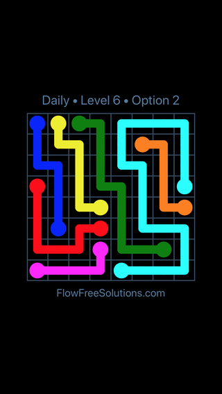 Solution and Answer to the Puzzle for Flow Date Wednesday, May 11, 2016 Level 6