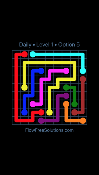 Solution and Answer to the Puzzle for Flow Date Thursday, May 12, 2016 Level 1