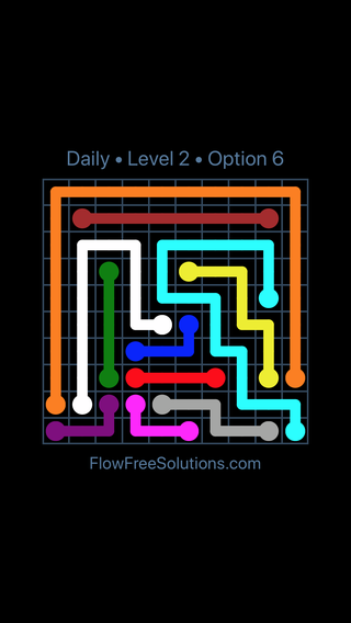 Solution and Answer to the Puzzle for Flow Date Thursday, May 12, 2016 Level 2