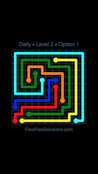 Solution and Answer to the Puzzle for Flow Date Saturday, August 6, 2016 Level 2