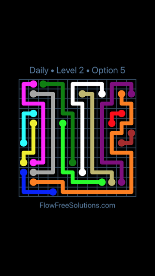 Solution and Answer to the Puzzle for Flow Date Sunday, March 13, 2016 Level 2