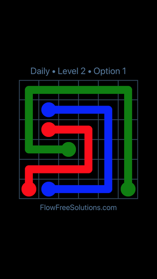 Solution and Answer to the Puzzle for Flow Date Sunday, May 15, 2016 Level 2