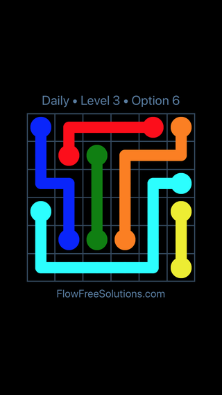 Solution and Answer to the Puzzle for Flow Date Sunday, May 15, 2016 Level 3