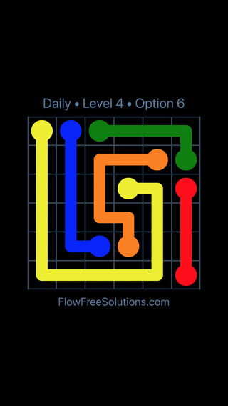 Solution and Answer to the Puzzle for Flow Date Sunday, June 10, 2018 Level 4