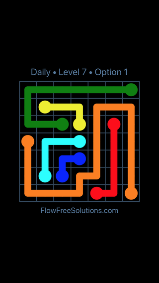 Solution and Answer to the Puzzle for Flow Date Sunday, May 15, 2016 Level 7