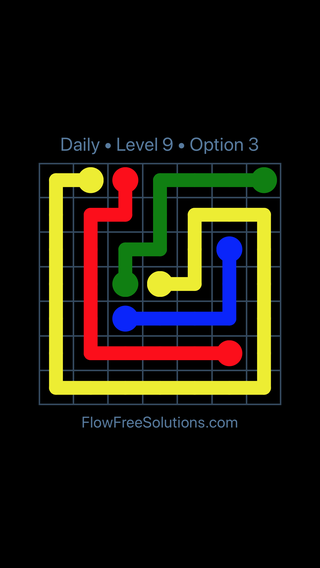 Solution and Answer to the Puzzle for Flow Date Sunday, June 10, 2018 Level 9
