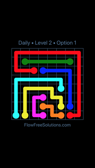 Solution and Answer to the Puzzle for Flow Date Monday, June 11, 2018 Level 2