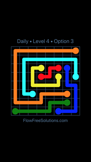 Solution and Answer to the Puzzle for Flow Date Monday, June 11, 2018 Level 4