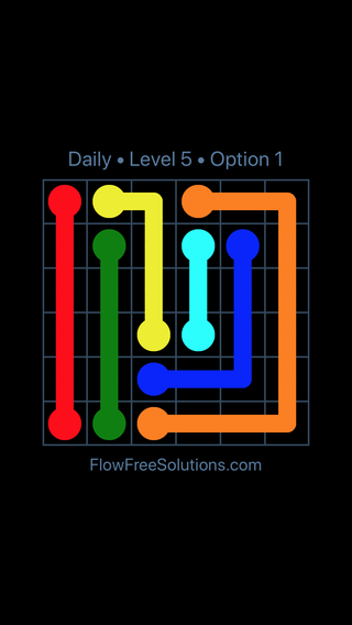 Solution and Answer to the Puzzle for Flow Date Monday, August 8, 2016 Level 5