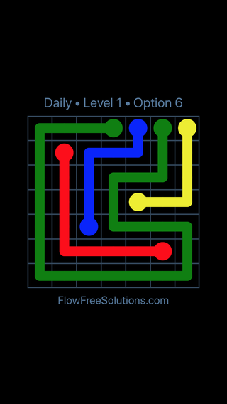Solution and Answer to the Puzzle for Flow Date Tuesday, May 17, 2016 Level 1