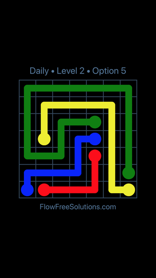 Solution and Answer to the Puzzle for Flow Date Tuesday, August 9, 2016 Level 2