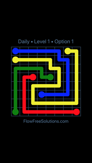 Solution and Answer to the Puzzle for Flow Date Wednesday, August 10, 2016 Level 1