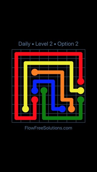 Solution and Answer to the Puzzle for Flow Date Wednesday, May 18, 2016 Level 2