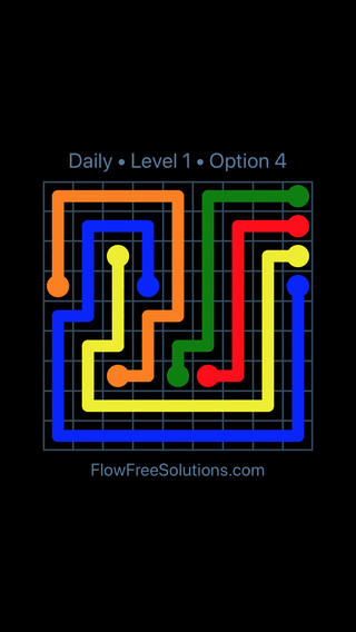 Solution and Answer to the Puzzle for Flow Date Thursday, May 19, 2016 Level 1
