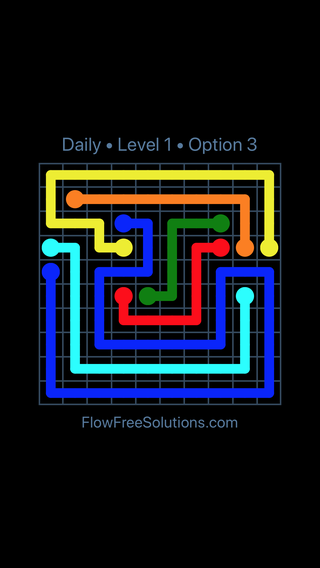 Solution and Answer to the Puzzle for Flow Date Friday, May 20, 2016 Level 1
